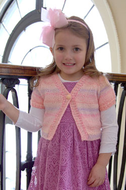 Angel Girls Cardigan Free Knitting Pattern