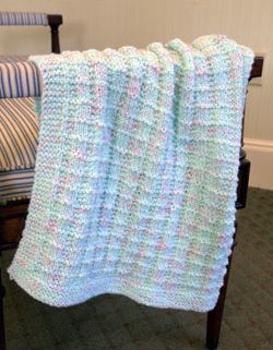 Textured Baby Blanket Free Knitting Pattern