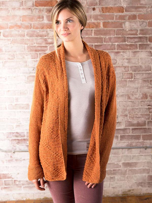 Sun Prairie Cardigan Free Knitting Pattern