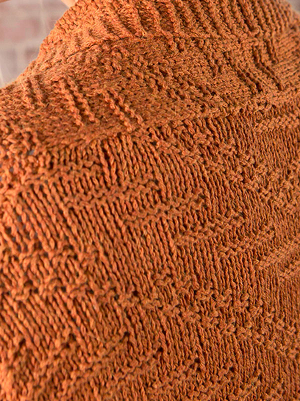 Sun Prairie Cardigan Free Knitting Pattern - shown closeup!