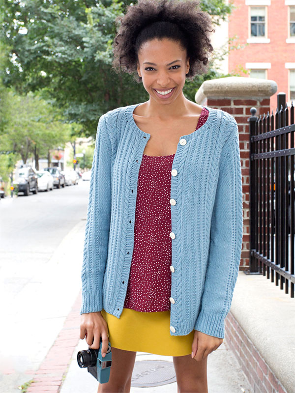 Cotton Cardigan Knitting Pattern : Watson Cabled Cardigan Free Knitting Pattern   Blog.NobleKnits