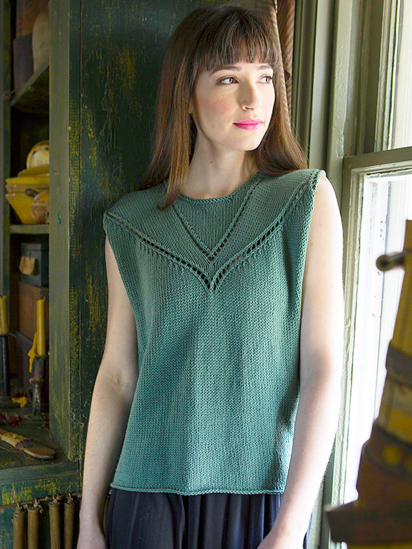 Admit Sleeveless Tee Free Knitting Pattern