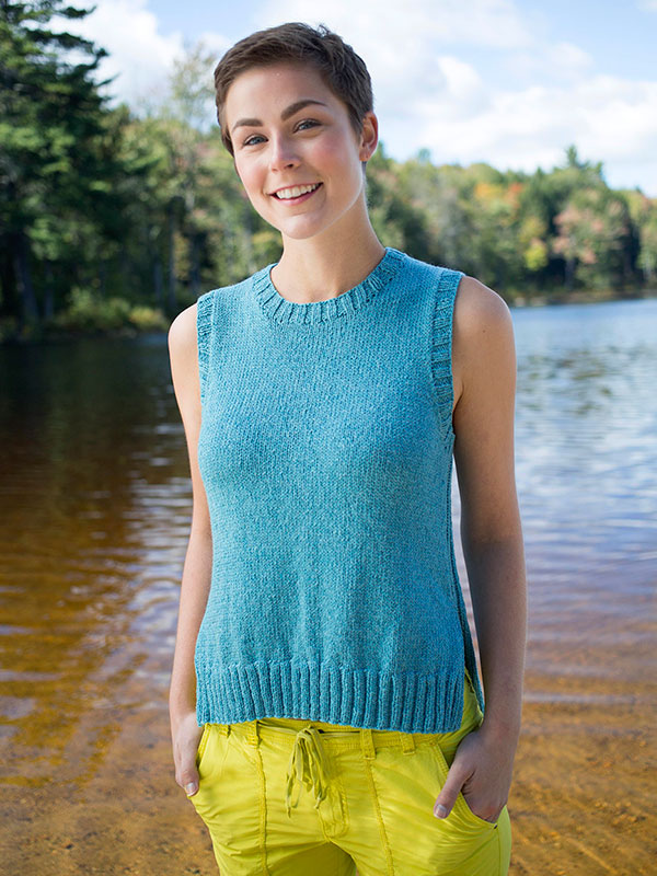 Berroco Dalea Tank Free Knitting Pattern - Easy!