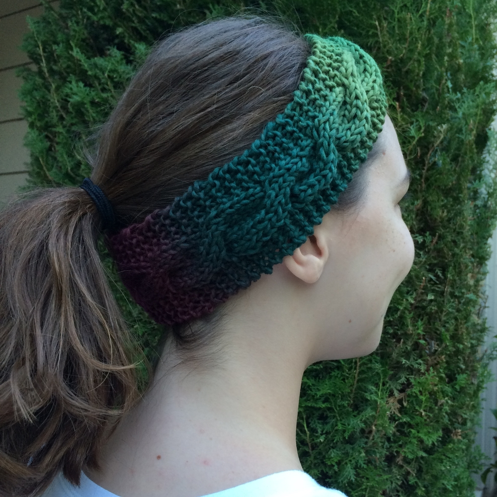 Easy Ombre Headband Free Knitting Pattern