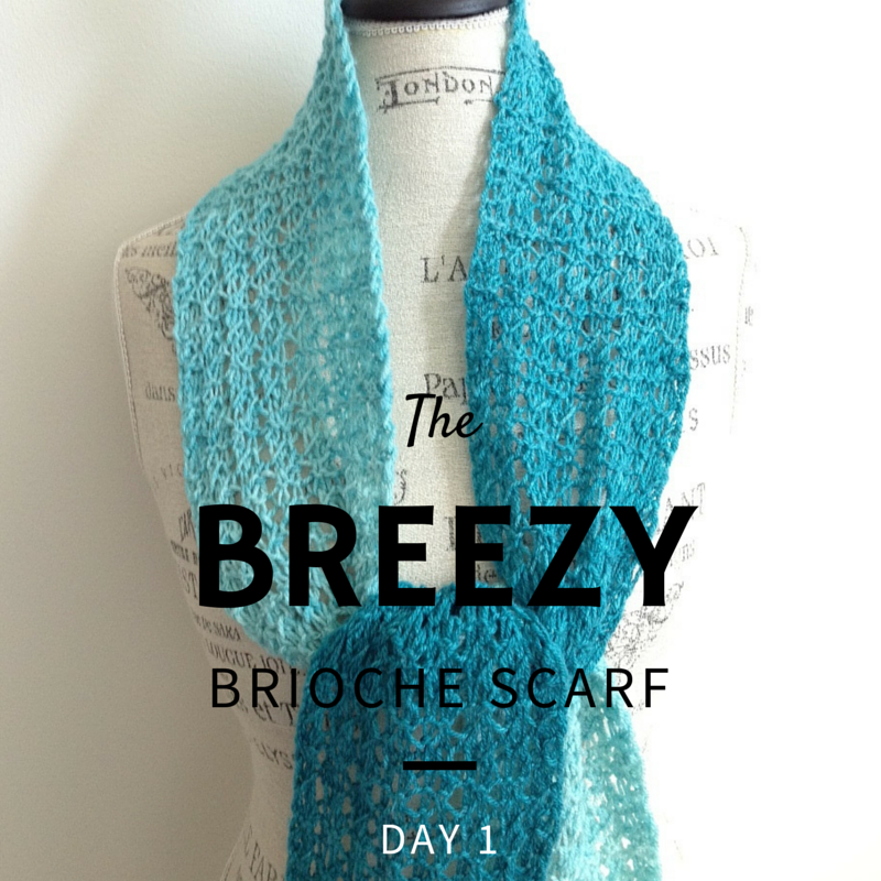 Breezy Scarf - A Beginner Brioche Knit Along