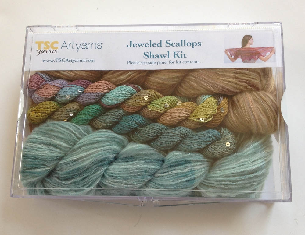 TSC Artyarns Jeweled Scallops Shawl Kit