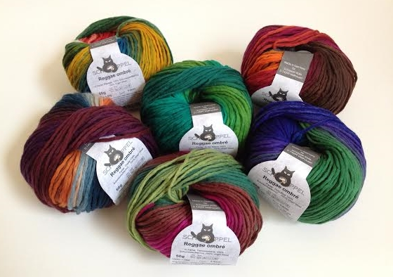 Reggae Ombre Yarn in Brights - vivid and bold!