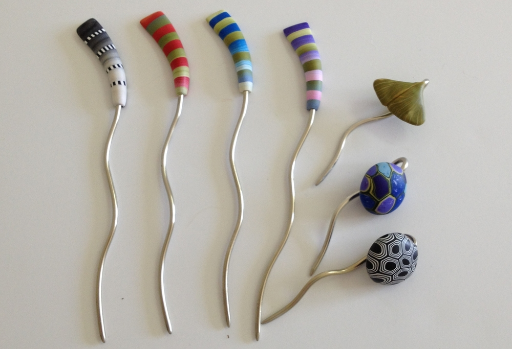 Bonnie Bishoff Color Sticks: Vivid and wonderfully quirky.  Available in 2 lengths.