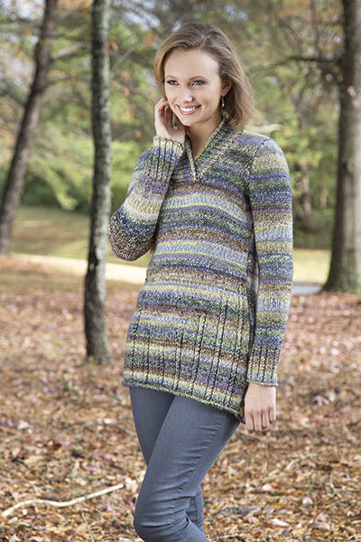 Stairstep Tunic Sweater Free Knitting Pattern   Blog.NobleKnits