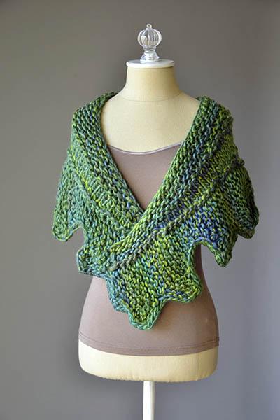Cog Shawlette Free Knitting Pattern Blog Nobleknits