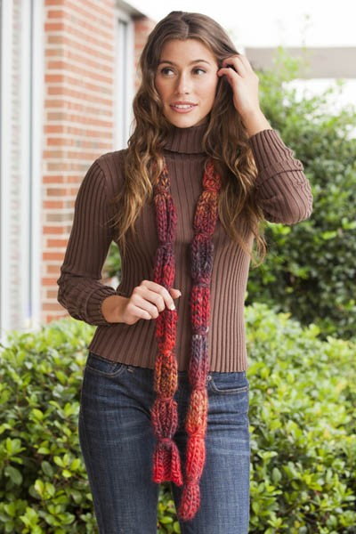 Wrapped Candies Scarf Free Knitting Pattern