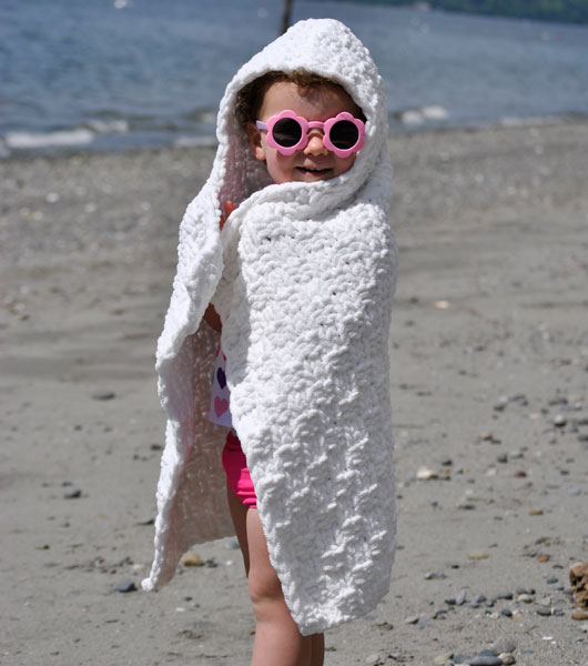 Squeaky Clean Hooded Towel Free Knitting Pattern