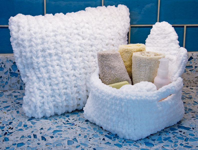 Easy Spa Accessories Free DIY Pattern to knit/crochet