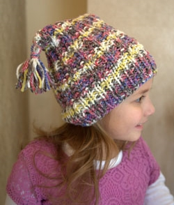 Tassel Hat Free Knitting Pattern - 1 ball knitting project!