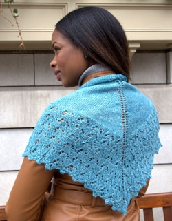 Linaza Shawl Free Knitting Pattern
