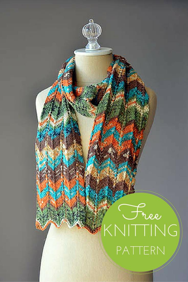 Happy Magic Scarf Free Knitting Pattern (1 ball project!)