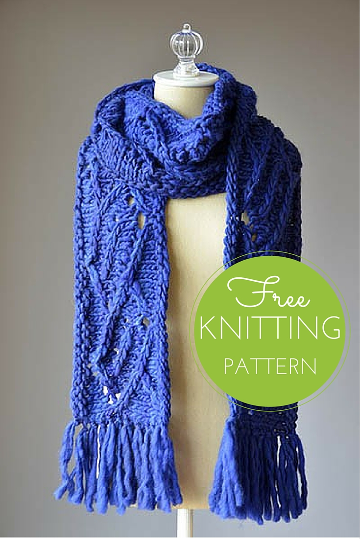 Tilted Scarf Free Knitting Pattern
