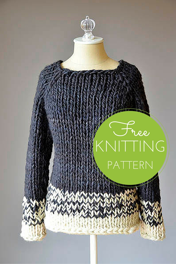 Transitions Sweater Free Knitting Pattern — Blog.NobleKnits