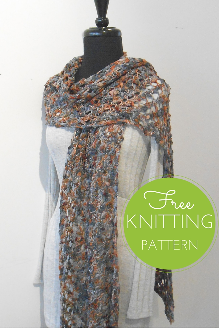 Gusto Lace Shawl Free Knitting Pattern using Tahki Flirt Yarn
