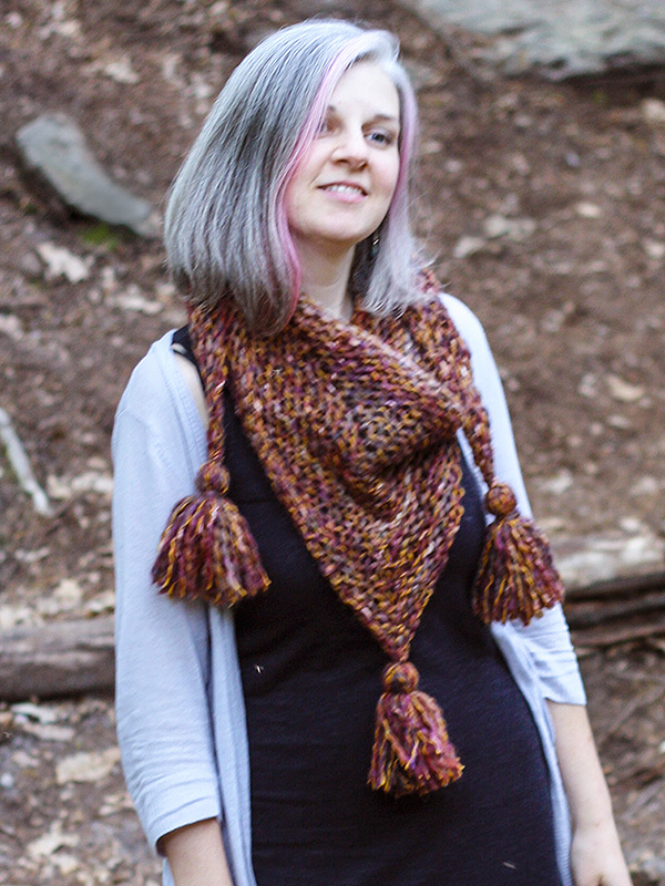 Cass Triangle Scarf Free Knitting Pattern