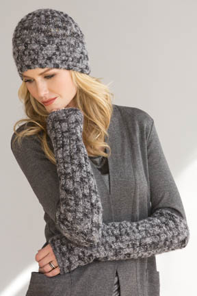 Bella Hat and Arm Warmers Free Knitting Pattern