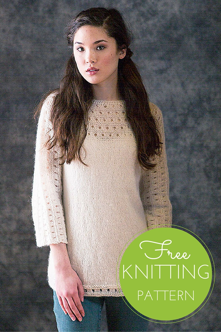 Pacific Pullover Free Knitting Pattern — Blog.NobleKnits