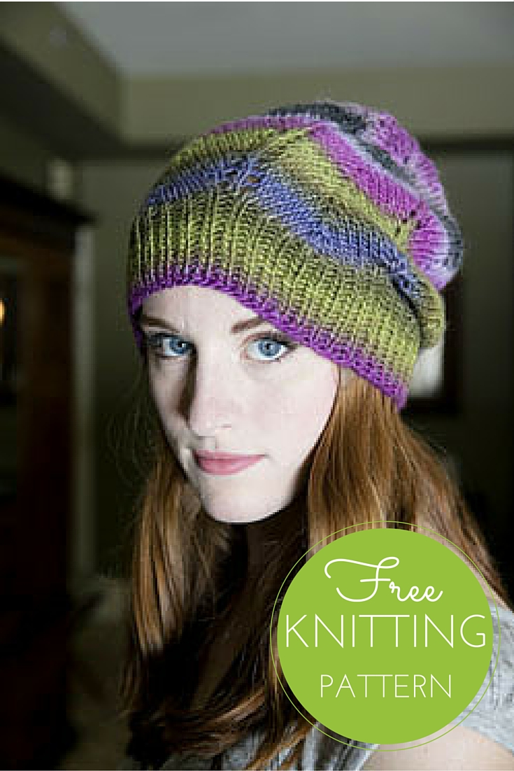 Gina Chevron Hat Free Knitting Pattern — Blog.NobleKnits