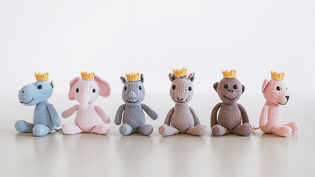 Royal Petites Baby Animals Knitting Kit Collection