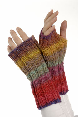 Double Knit Mittens Free Pattern : Easy Fingerless Mitts Free Knitting Pattern NobleKnits Knitting Blog Blog...