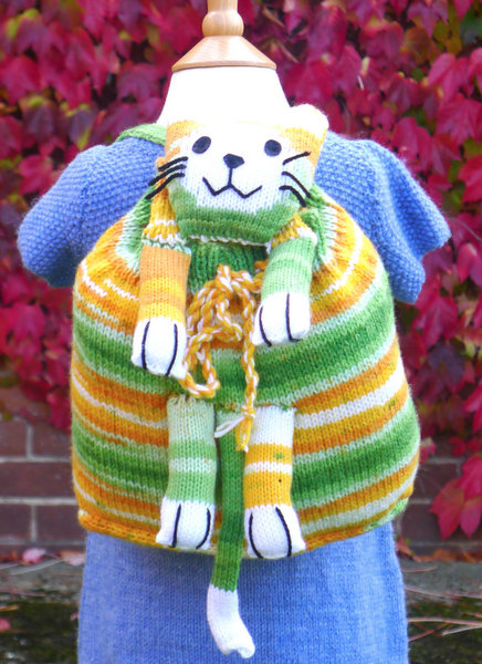 Kids' Backpack Free Knitting Pattern