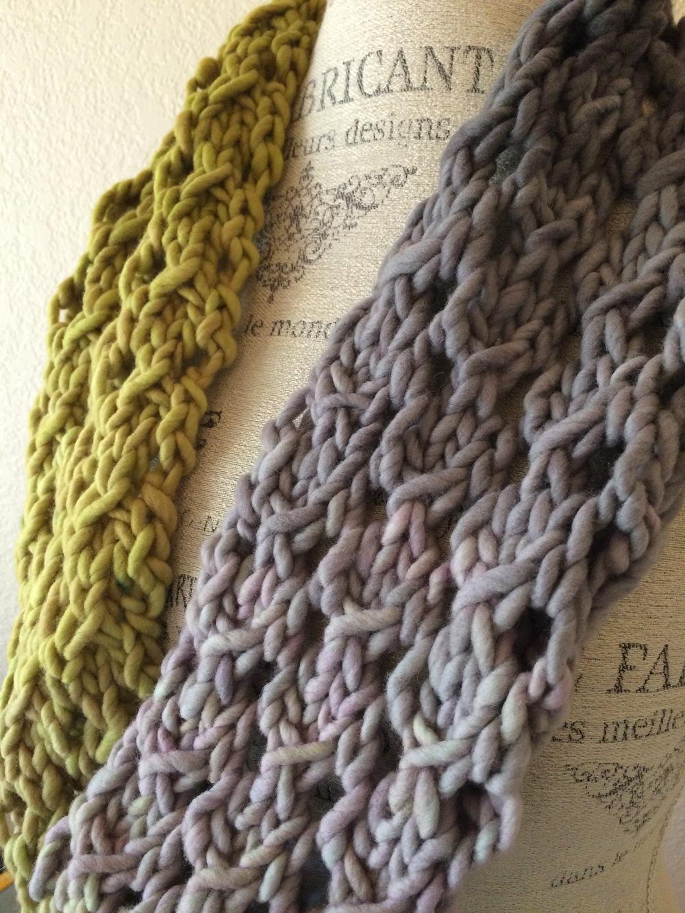 Bulky Lace Cowl Free Knitting Pattern — Blog.NobleKnits