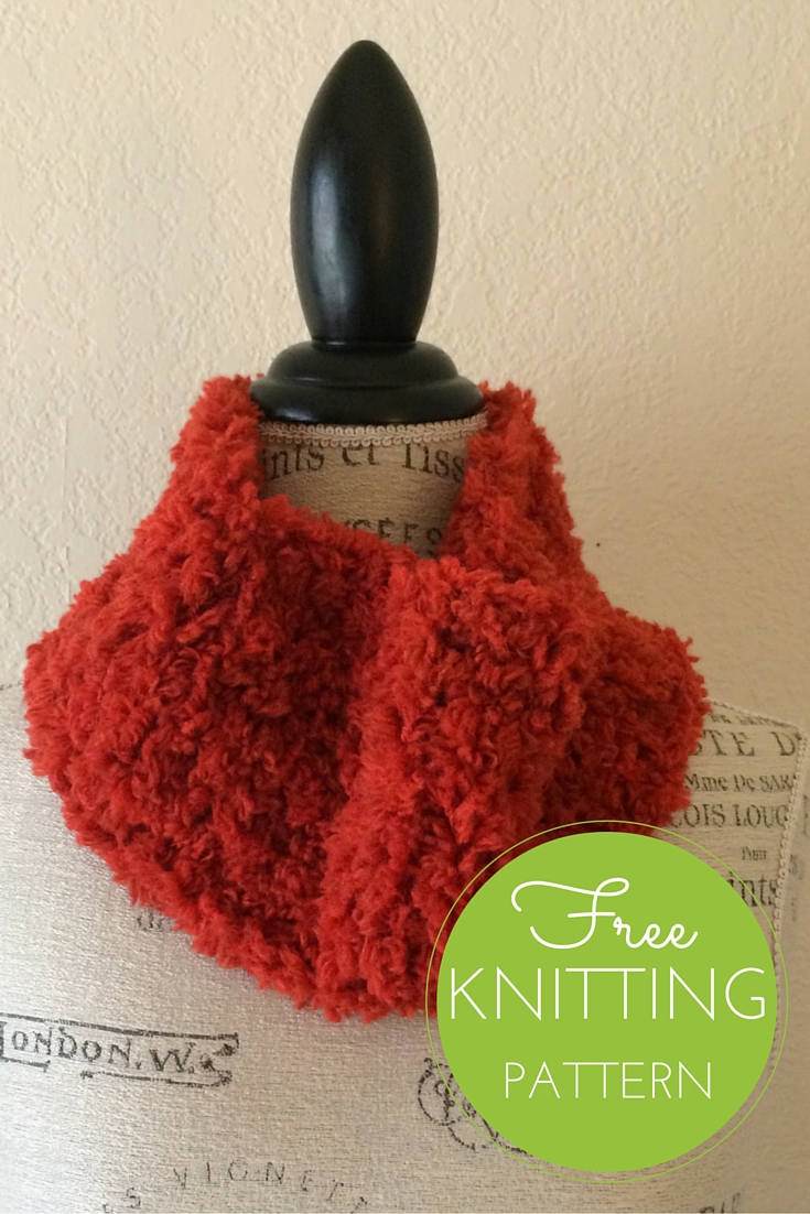 Furry Cowl Free Knitting Pattern   Blog.NobleKnits