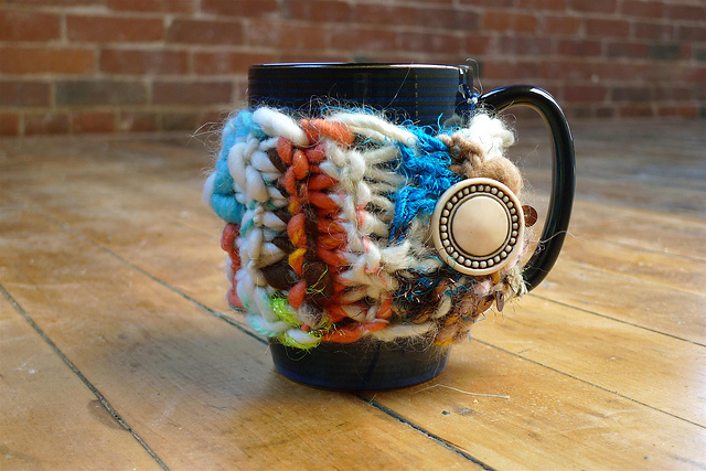 Cozy Mug Warmer Free Knitting Pattern