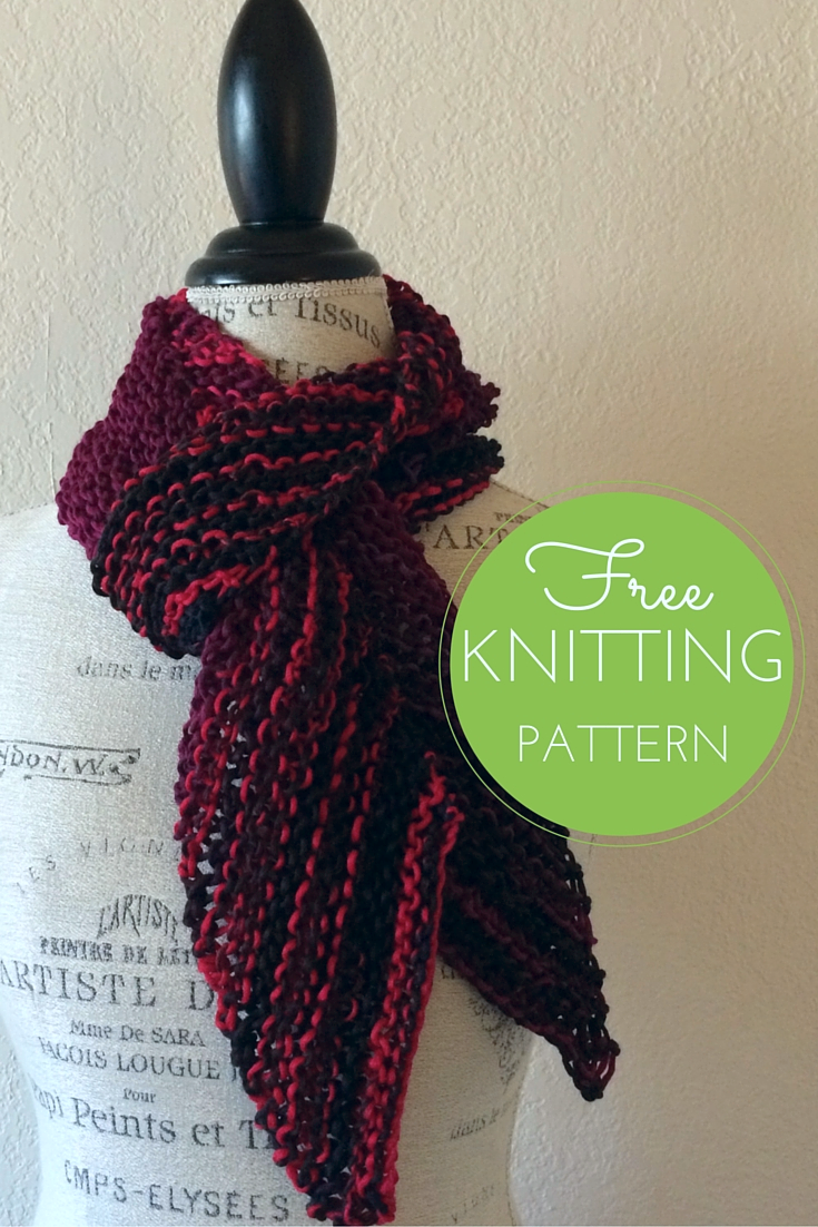 Easy Bias Scarf Free Knitting Pattern   Blog.NobleKnits