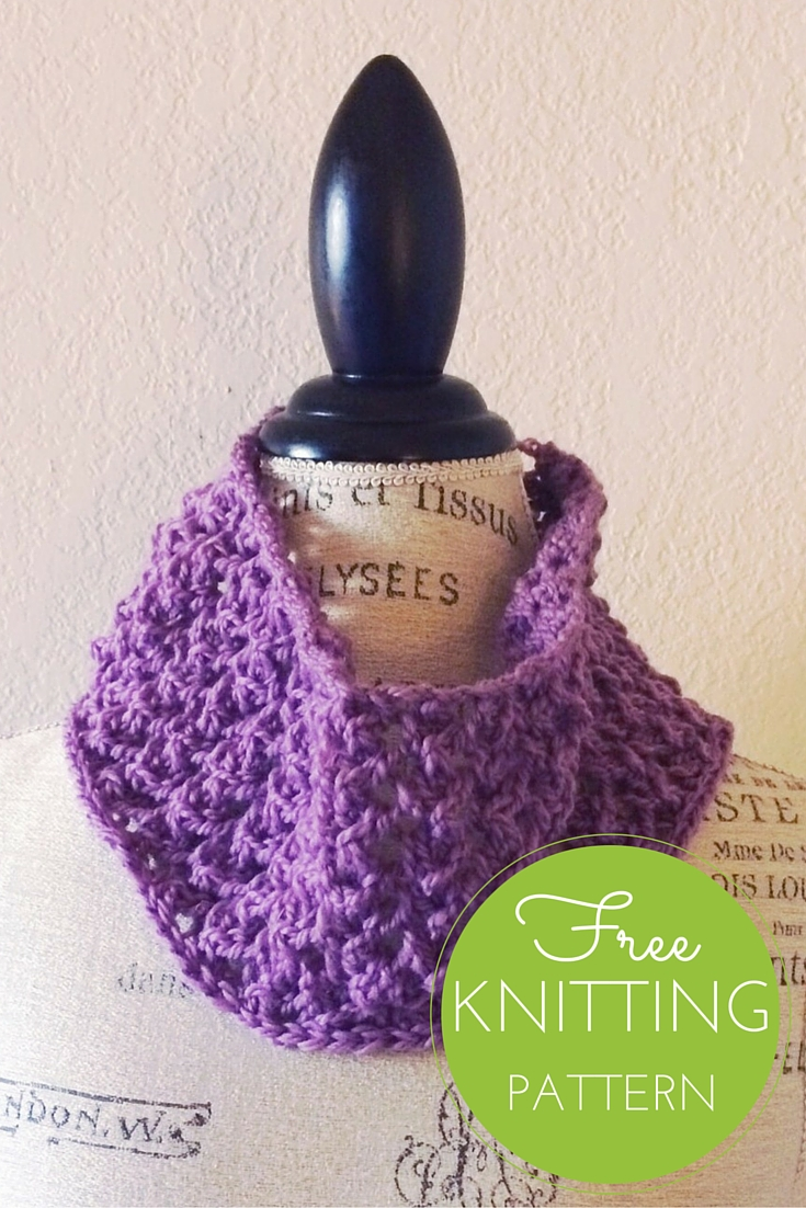 Vintage Lace Cowl Free Knitting Pattern - One Skein Project