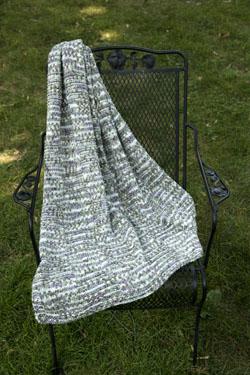 Block Throw Free Knitting Pattern