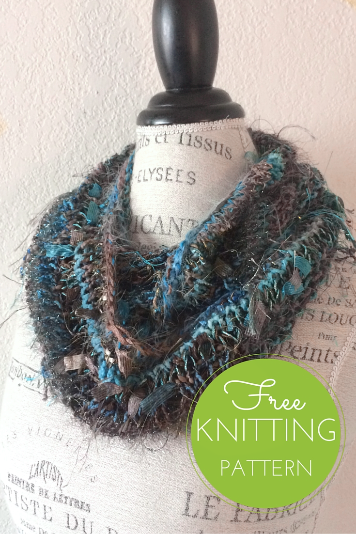 Stuff Cowl Free Knitting Pattern - worn doubled around the neck