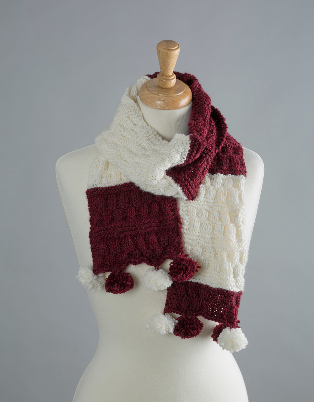 Collegiate Hat and Scarf Free Knitting Pattern