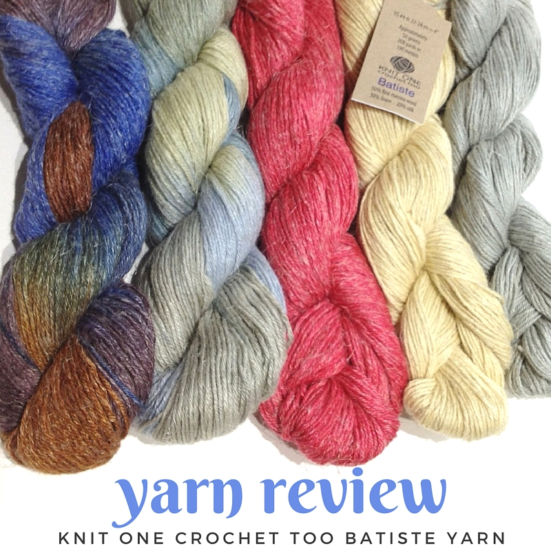 Yarn Review Knit One Crochet Too Batiste Yarn Blog Nobleknits