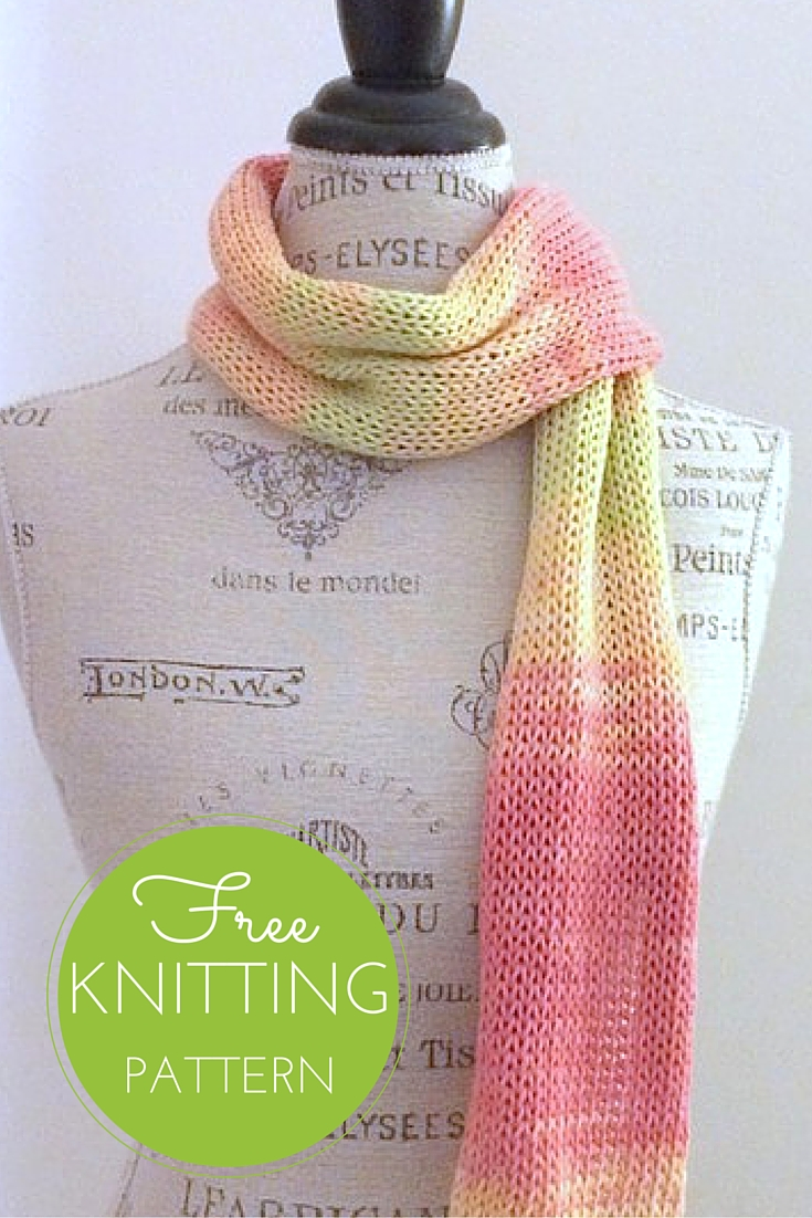 Sunrise Scarf Free Knitting Pattern