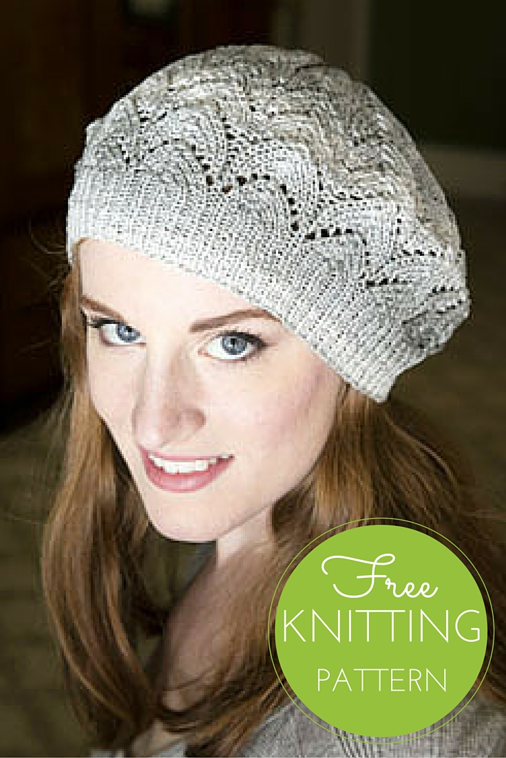 Free Knitted Flowers Patterns : Driftone Lace Beret Free Knitting Pattern   Blog.NobleKnits