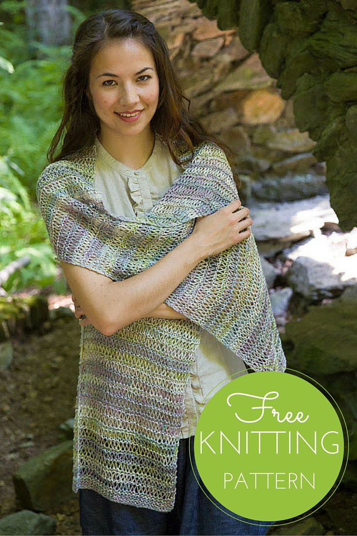 Bella Lino Drop Stitch Wrap Free Knitting Pattern