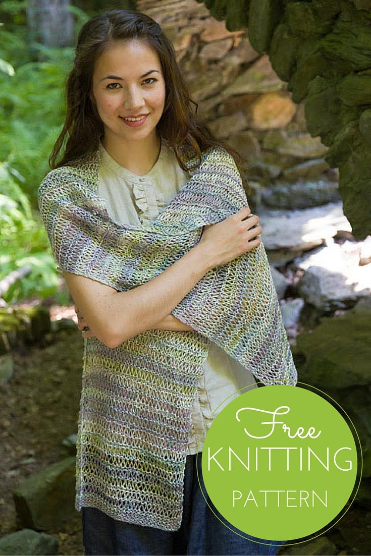 Bella Lino Drop Stitch Wrap Free Knitting Pattern