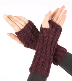Faux Cable Mitts Free Knitting Pattern