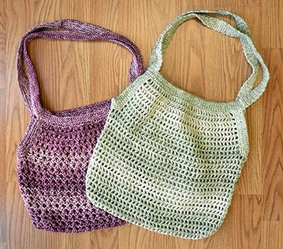 Market Bags Free Pattern to Knit or Crochet!