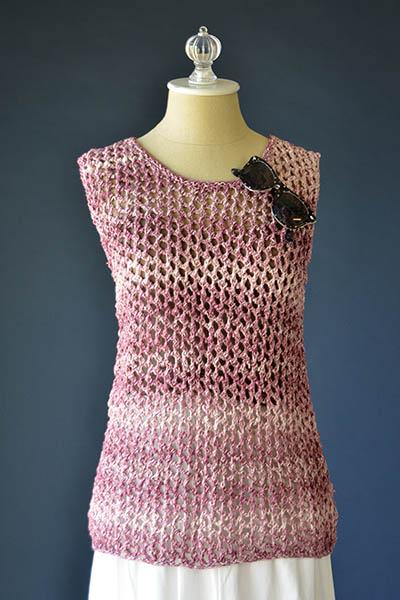 Brickwork Tank Free Knitting Pattern