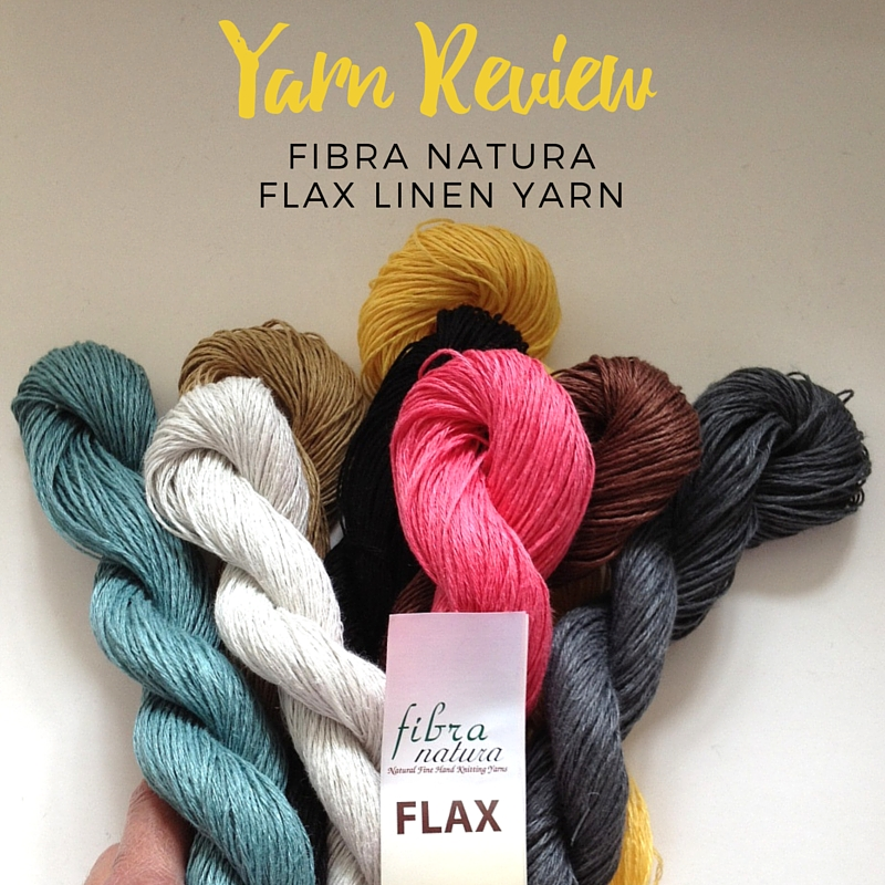 Fibra Natura Flax Yarn Review
