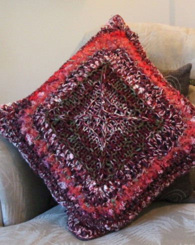 Knit & Crochet Pillow Free Pattern