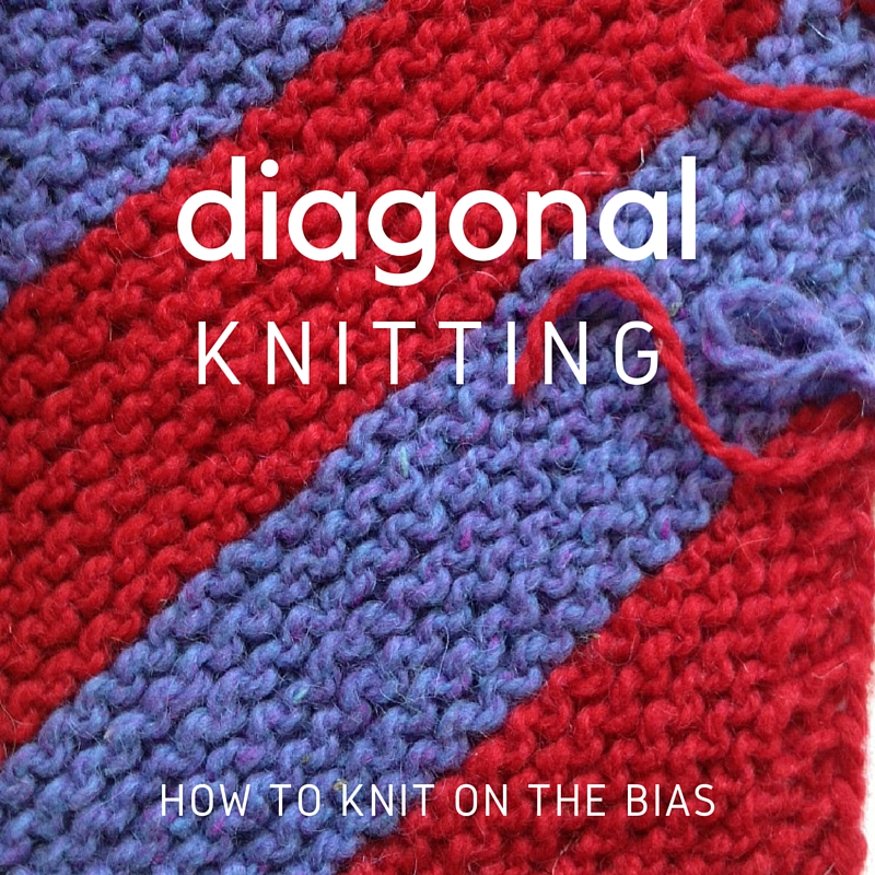 Knitting A Rectangle On The Bias : Diagonal knitting how to — bleknits