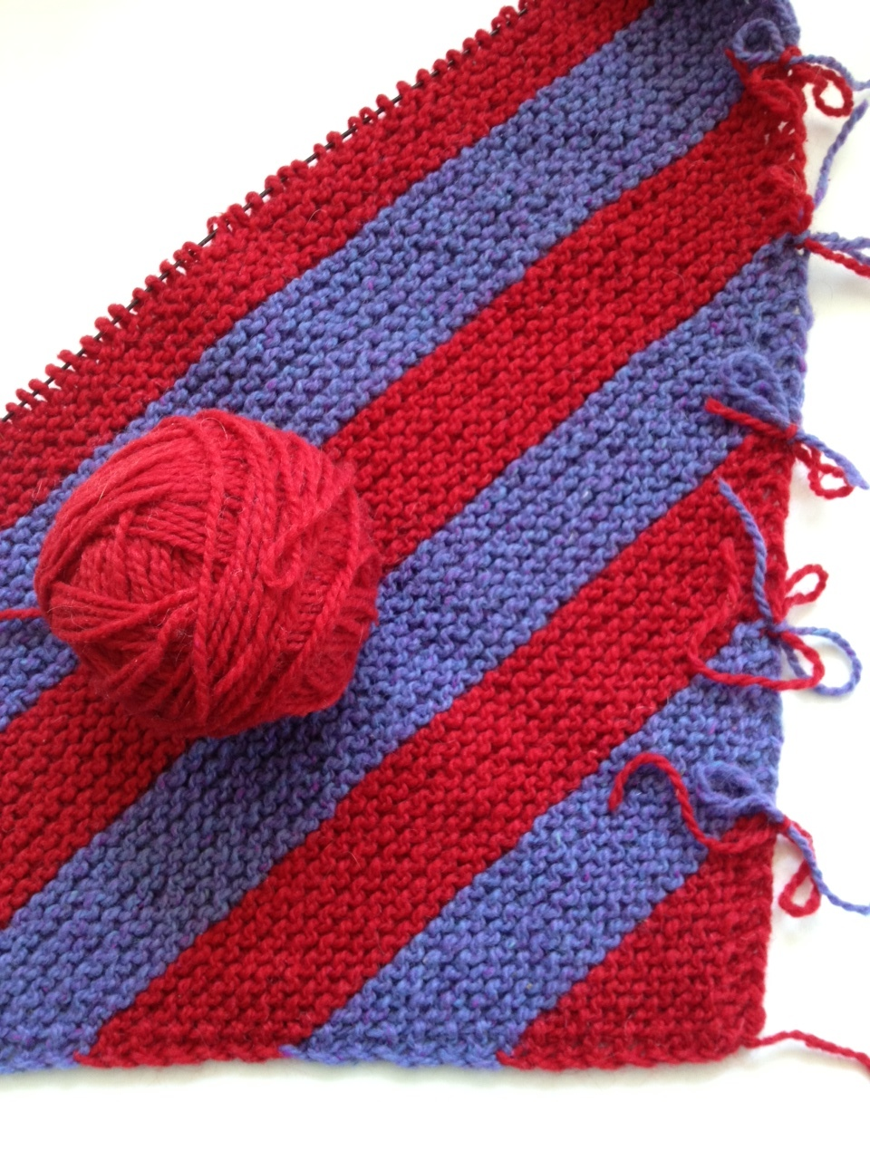 Here's my Diagonal knitting Work in Progress